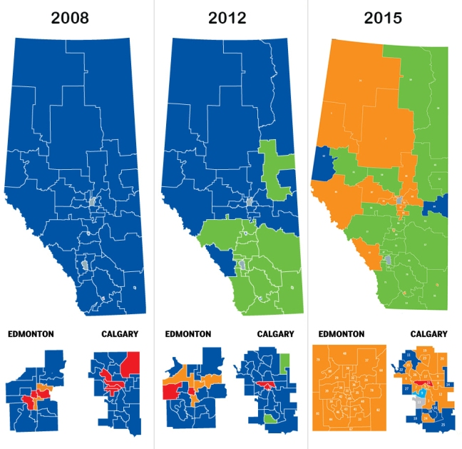 Alberta Election Map Blog